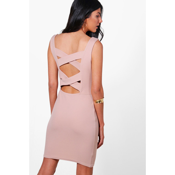 BOOHOO Isla Strapy Cross Back Bodycon Dress - Dresses are the most-wanted wardrobe item for day-to-night...