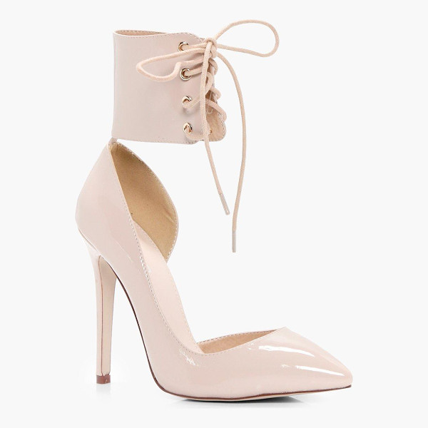 BOOHOO Isobel Lace Up Ankle Band Court Stiletto - We'll make sure your shoes keep you one stylish step ahead...