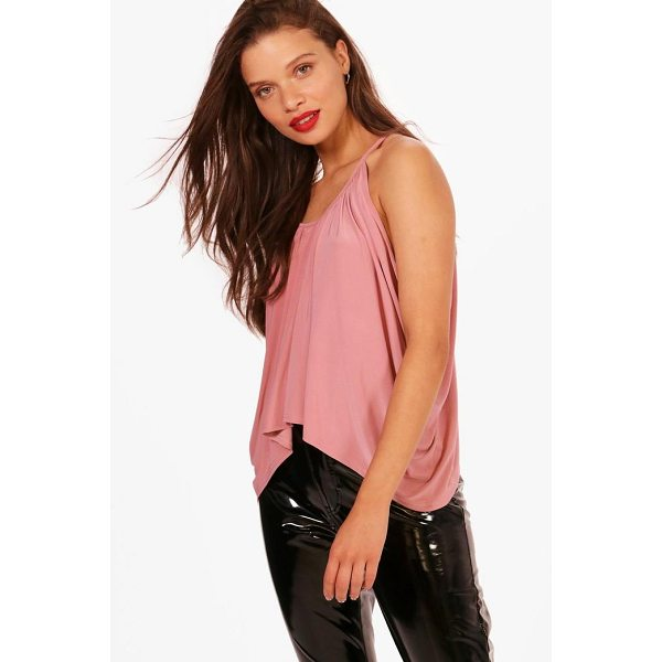 BOOHOO Isobel Ruched Drop Arm Cami - Steal the style top spot in a statement separate from the...
