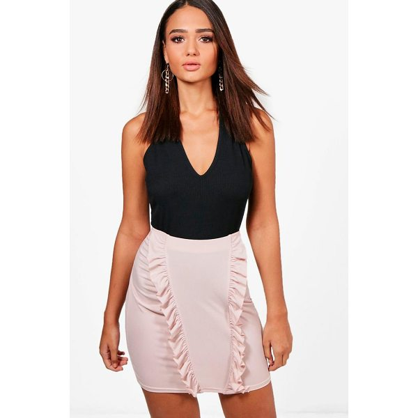 BOOHOO Isobel Ruffle Drape Front Mini Skirt - Skirts are the statement separate in every wardrobe This...