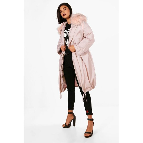 BOOHOO Ivy Parka With Faux Fur Trim & Detachable Lining - Wrap up in the latest coats and jackets and get out-there...
