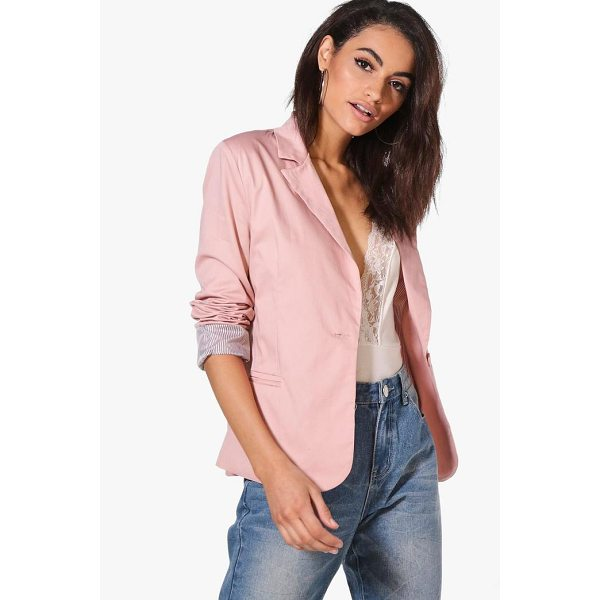 BOOHOO Jade Colour Block Blazer - Add some classic tailoring to your wardrobe for...