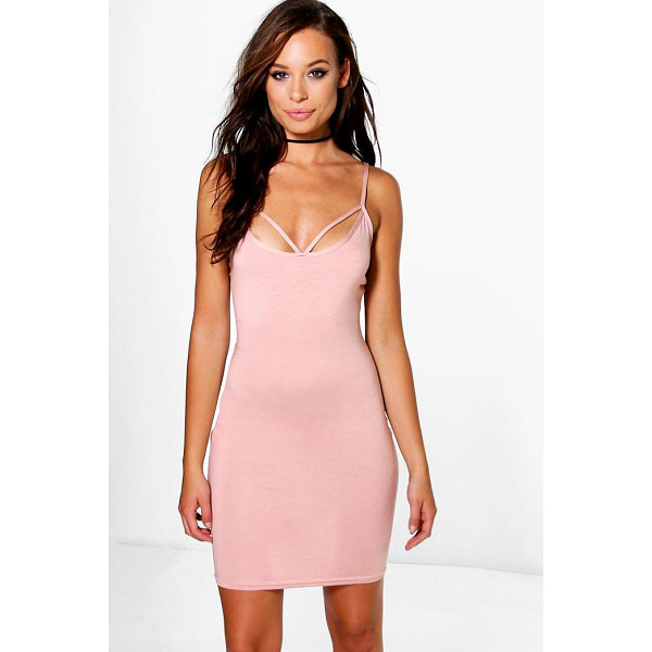 BOOHOO Jane Strappy Front Bodycon Dress - Dresses are the most-wanted wardrobe item for day-to-night...