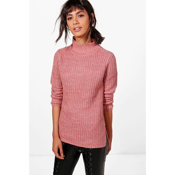 BOOHOO Jasmine Marl Knit Turtleneck Jumper - Nail new season knitwear in the jumpers and cardigans that...