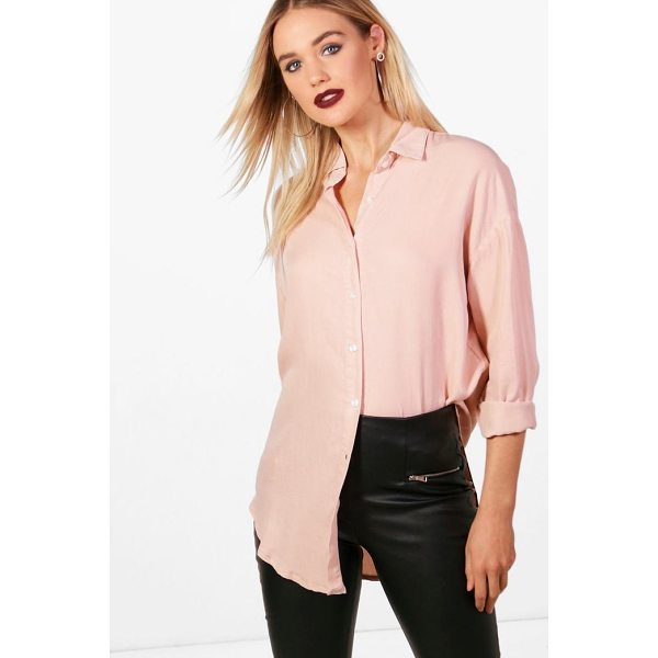 BOOHOO Jasmine Oversized Soft Touch Denim Shirt - Steal the style top spot in a statement separate from the...