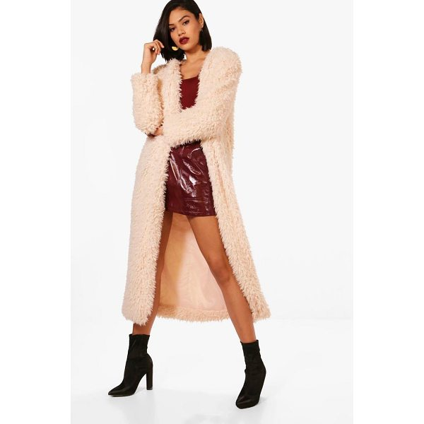 BOOHOO Jenna Maxi Faux Fur Coat - Wrap up in the latest coats and jackets and get out-there...