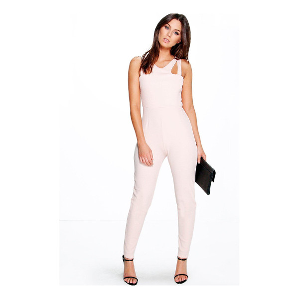 BOOHOO Jennie Cut Out Strappy Textured One Piece - Jumpsuits are your day-to-night dress alternativeYour 70s...