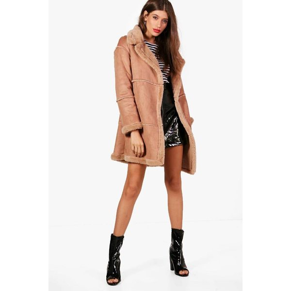 BOOHOO Jenny Bonded Faux Fur Coat - Wrap up in the latest coats and jackets and get out-there...