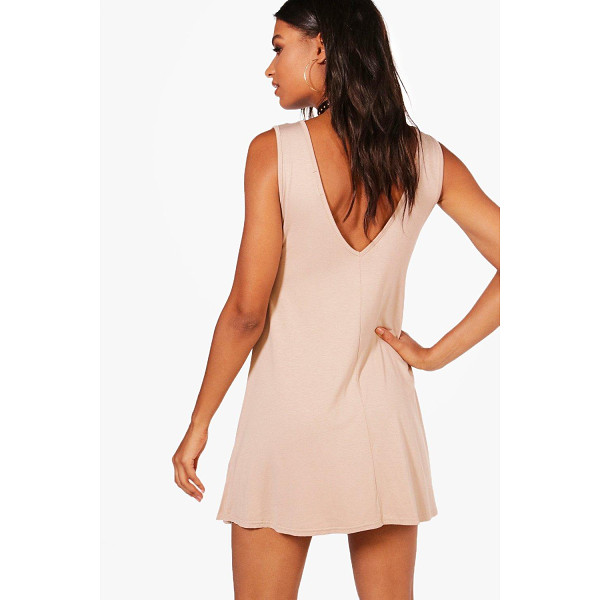 BOOHOO Jenny V Back Swing Dress - Dresses are the most-wanted wardrobe item for day-to-night...