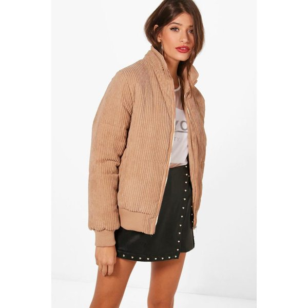 BOOHOO Jess Jumbo Cord Padded Jacket - Wrap up in the latest coats and jackets and get out-there...