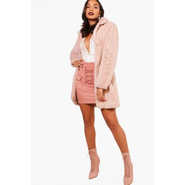 BOOHOO Jessica Boutique Faux Fur Coat - Wrap up in the latest coats and jackets and get out-there...