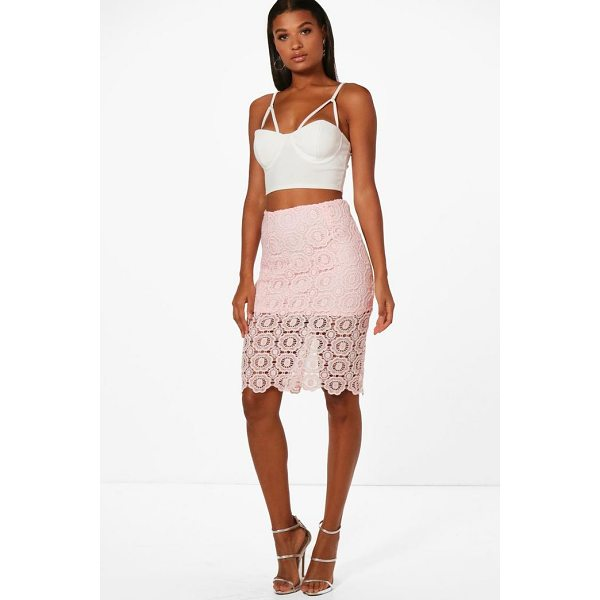 BOOHOO Jessica Lace Midi Skirt - Skirts are the statement separate in every wardrobe This...