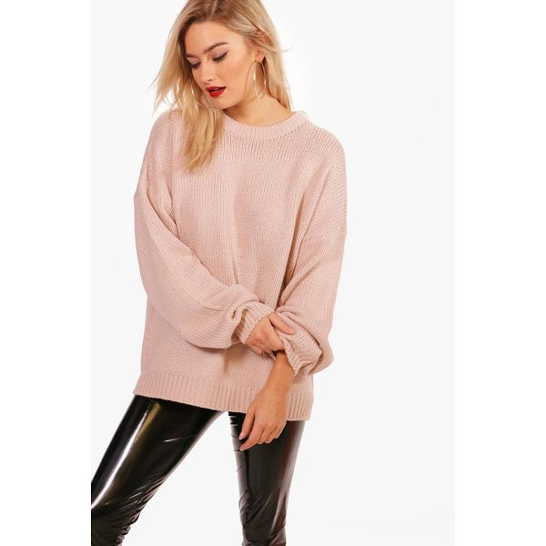 BOOHOO Joanna Oversized Drop Shoulder Jumper - Nail new season knitwear in the jumpers and cardigans that...