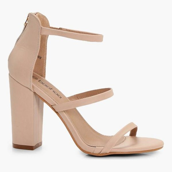 BOOHOO Jodie 3 Part Block Heels - We'll make sure your shoes keep you one stylish step ahead...