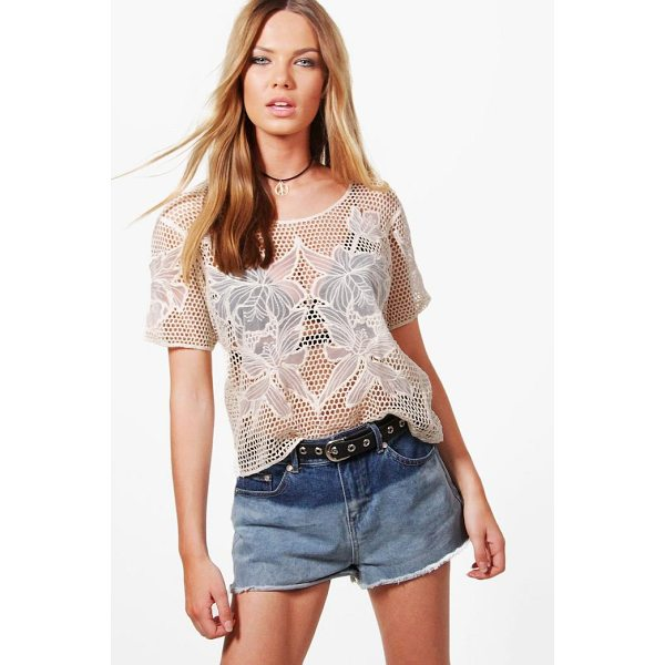 BOOHOO Joey Crochet T-Shirt - Steal the style top spot in a statement separate from the...