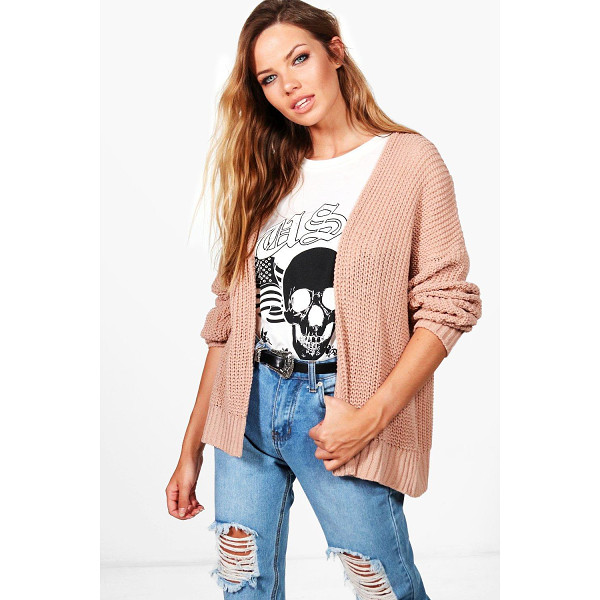 BOOHOO Julia Dropped Shoulder Cropped Oversized Cardigan - Nail new season knitwear in the jumpers and cardigans that...