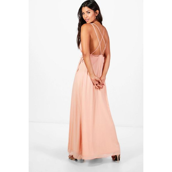 BOOHOO Kaitlyn Chiffon Strappy Back Maxi Dress - Dresses are the most-wanted wardrobe item for day-to-night...