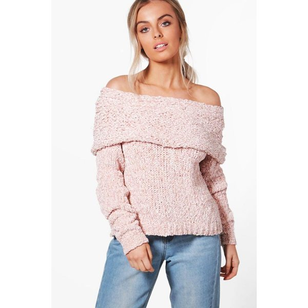 BOOHOO Kaley Chunky Bardot Jumper - Sweaters are a key piece for your casual wardrobe. Think...