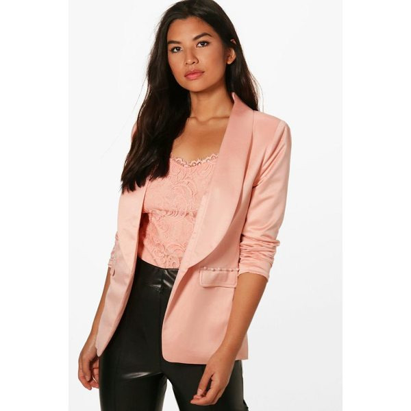 BOOHOO Kaley Pearl Button Detail Tailored Blazer - Wrap up in the latest coats and jackets and get out-there...