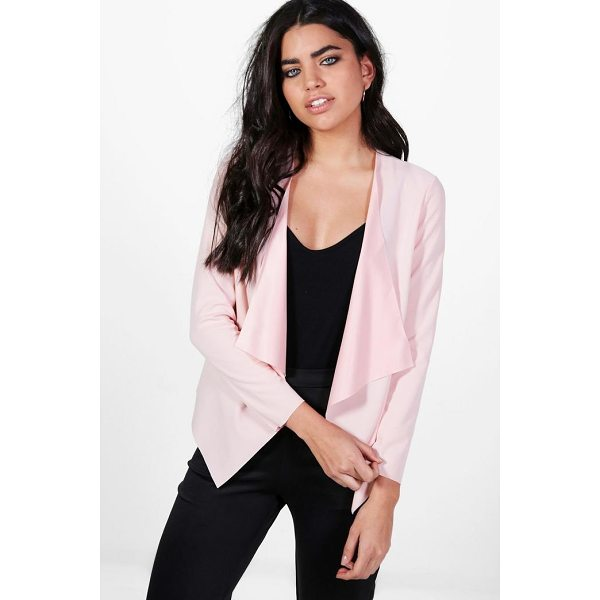 BOOHOO Kaley Waterfall Scuba Crepe Blazer - Wrap up in the latest coats and jackets and get out-there...