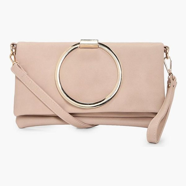 BOOHOO Karen Large Ring Cross Body Bag - Add attitude with accessories for those fashion-forward...