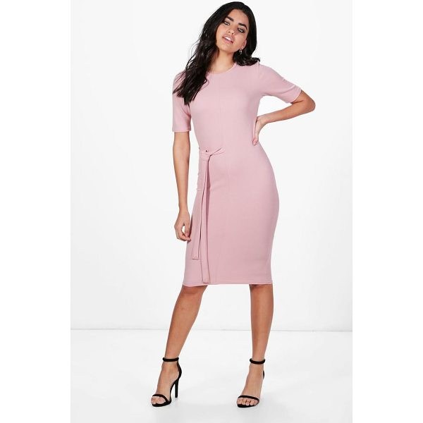 BOOHOO Karina Tie Waist Midi Dress - Dresses are the most-wanted wardrobe item for day-to-night...