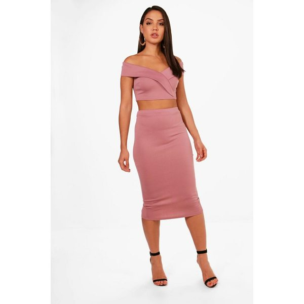 BOOHOO Kat Off Shoulder Crop and Skirt Co-ord - Co-ordinates are the quick way to quirky this seasonMake...