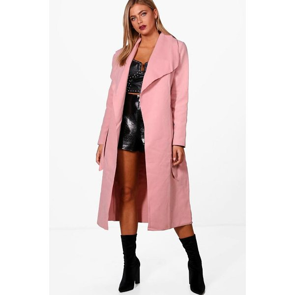 BOOHOO Kate Belted Shawl Collar Coat - Wrap up in the latest coats and jackets and get out-there...