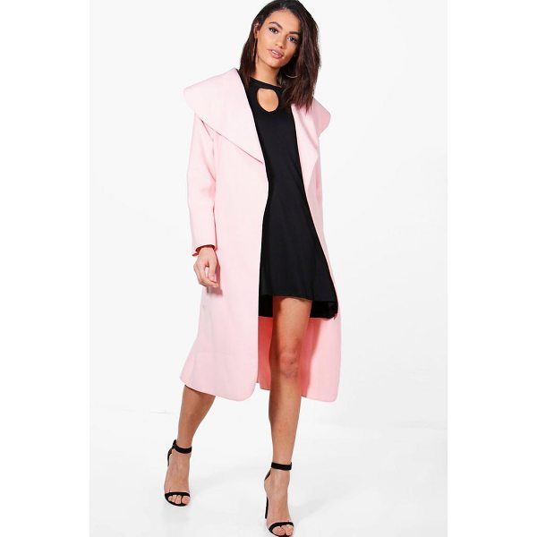 BOOHOO Kate Belted Shawl Collar Coat - Wrap up warm in the latest wool look outerwear. A stylish...
