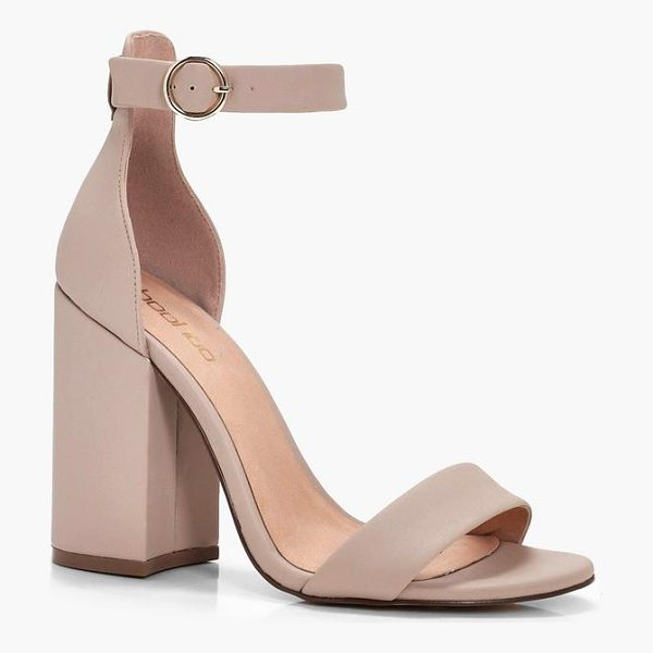 BOOHOO Kate Chunky Block Heel 2 Part - We'll make sure your shoes keep you one stylish step ahead...