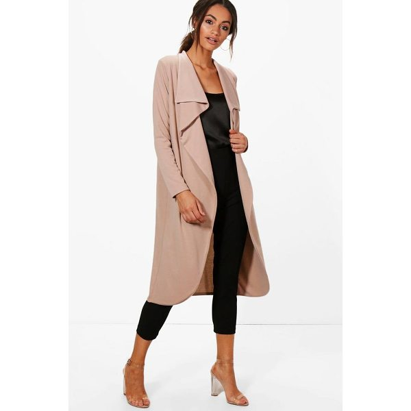 BOOHOO Kate Ponte Wrap Front Duster Jacket - Wrap up in the latest coats and jackets and get out-there...