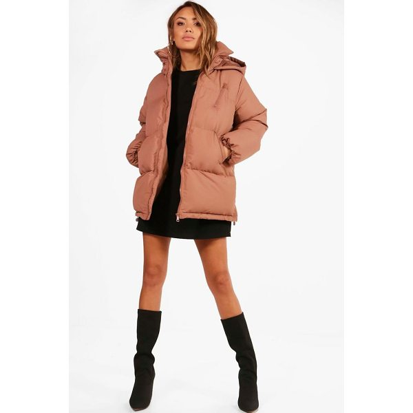 BOOHOO Katie Hooded Padded Coat - Wrap up in the latest coats and jackets and get out-there...