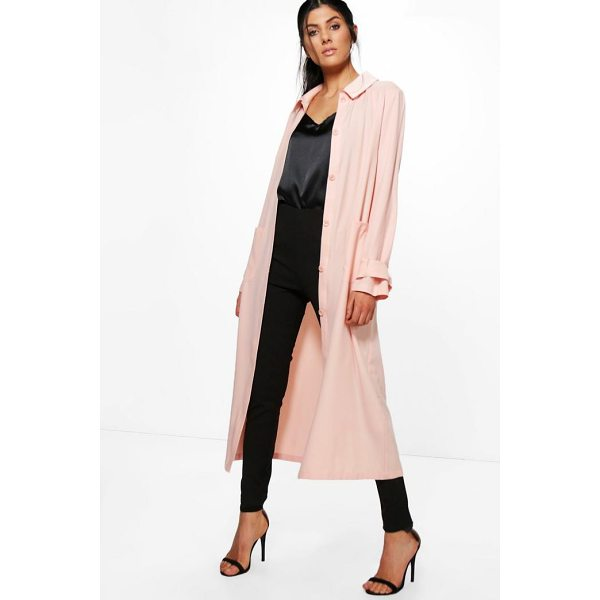 BOOHOO Keira Maxi Utility Duster Shacket - Wrap up in the latest coats and jackets and get out-there...