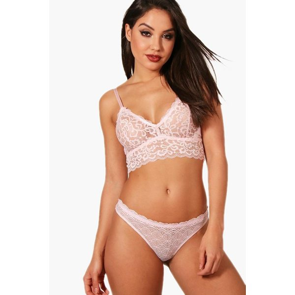 BOOHOO Keira Paisley Lace Long Line Bralet - Take nights in up a notch with our silky soft...