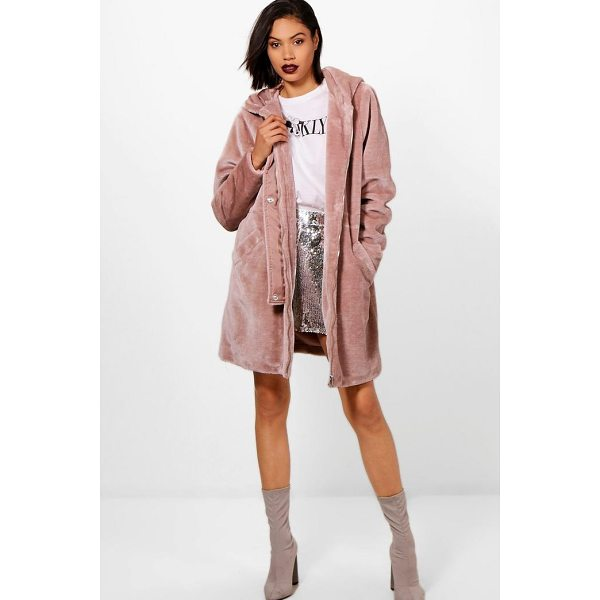BOOHOO Kelly Faux Fur Parka - Wrap up in the latest coats and jackets and get out-there...