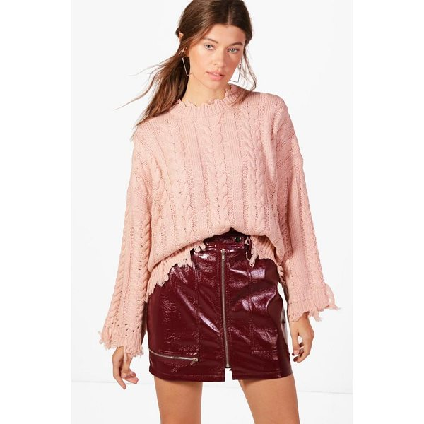 BOOHOO Kelly Oversized Cable Knit Jumper - Nail new season knitwear in the jumpers and cardigans that...