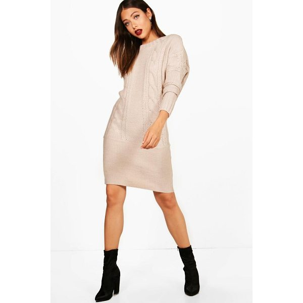 BOOHOO Kelsie Batwing Jumper Dress - Dresses are the most-wanted wardrobe item for day-to-night...