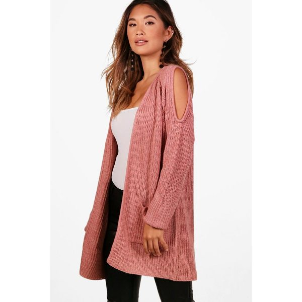BOOHOO Kerry Cold Shoulder Edge To Edge Cardigan - Nail new season knitwear in the jumpers and cardigans that...