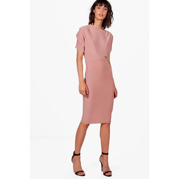 BOOHOO Kerry Slinky Midi Dress - Dresses are the most-wanted wardrobe item for day-to-night...