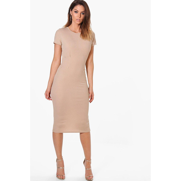 BOOHOO Kerry Tie Waist Fitted Dress - Dresses are the most-wanted wardrobe item for day-to-night...