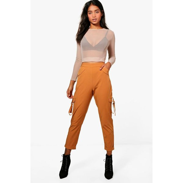 BOOHOO Kiera Pocket Side Luxe Utility Trousers - Trousers are a more sophisticated alternative to...