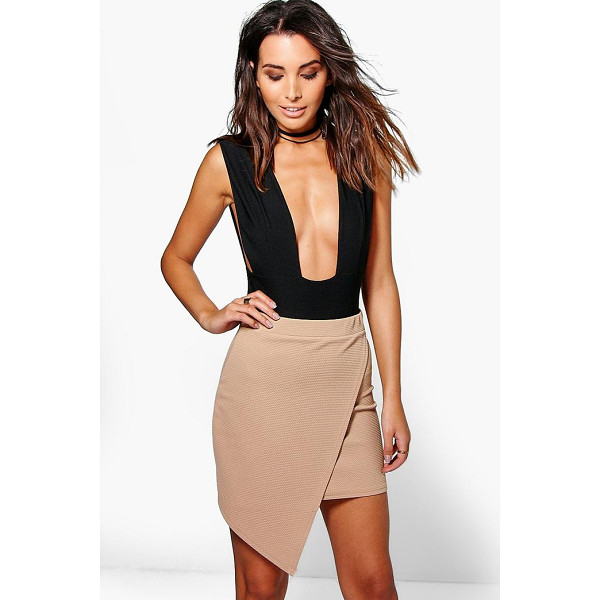 BOOHOO Kira Wrap Front Asymetric Mini Skirt - Skirts are the statement separate in every wardrobe This...