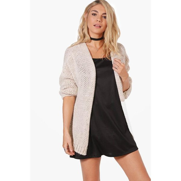 BOOHOO Lacey Chunky Knit Cardigan - Nail new season knitwear in the jumpers and cardigans that...