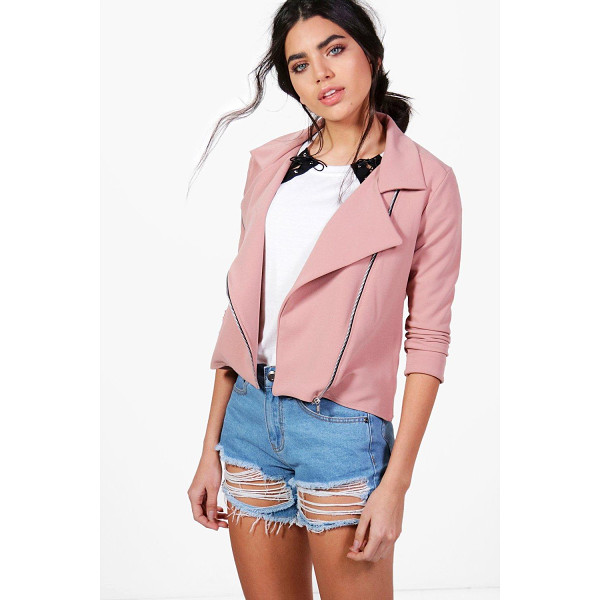 BOOHOO Lana Biker Jacket - Wrap up in the latest coats and jackets and get out-there...