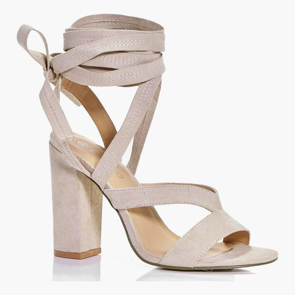 BOOHOO Lara Block Heel Wrap Strap - When it comes to heels, go high or go home!Send your
