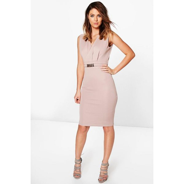 BOOHOO Laura Belted Tailored Dress - Dresses are the most-wanted wardrobe item for day-to-night...