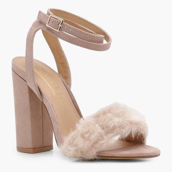 BOOHOO Laura Fur Detail Two Part Heel - We'll make sure your shoes keep you one stylish step ahead...