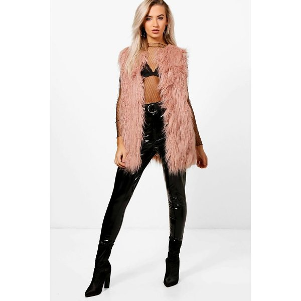 BOOHOO Laura Mongolian Faux Fur Gilet - Wrap up in the latest coats and jackets and get out-there...