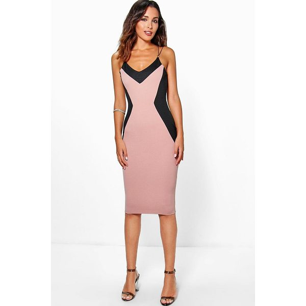 BOOHOO Laura Trim Detail Midi Dress - Dresses are the most-wanted wardrobe item for day-to-night...