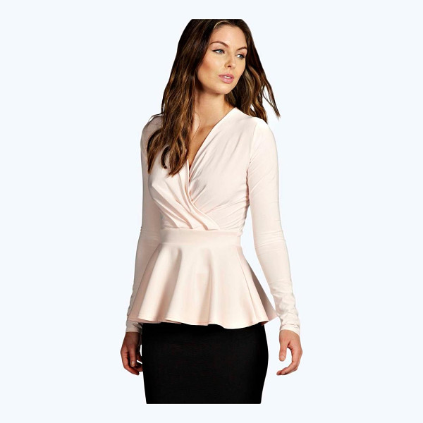 BOOHOO Laura Wrap Over Peplum Top - Peplum top with wrap over designFor fabulously flattering...